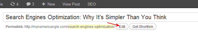 Using your keyword in your article's Title and URL is one strategy for search engines optimizatiom